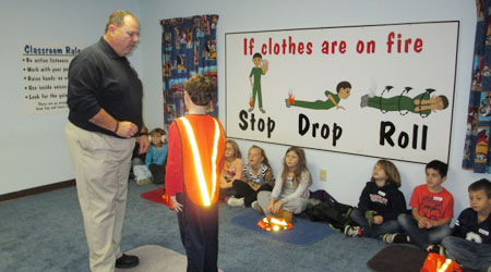 Stop, Drop and Roll Instruction